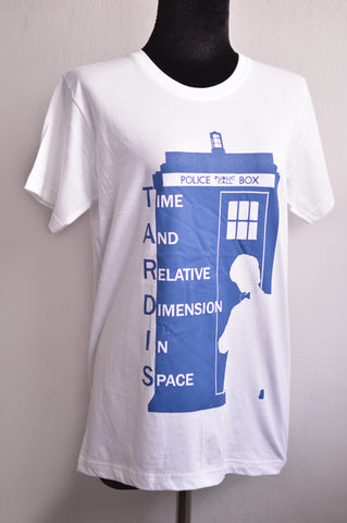 Doctor Who and Tardis Ver 2 t shirt