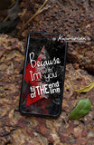 Because I'm with you till the end of the line Bucky Steve Captain America phone case