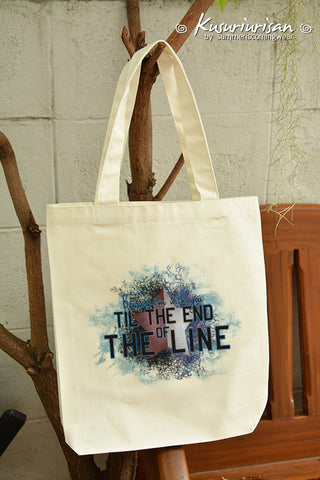 Because I'm with you till the end of the line ver.2 on calico tote bag