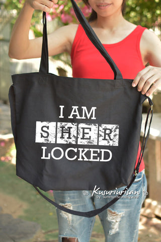 I AM SHERLOCKED Tote Bag with Shoulder strap