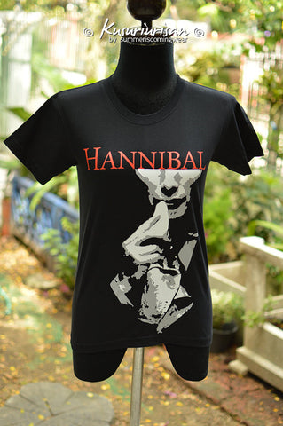 Hannibal with napkin T-shirt - can choose V neck
