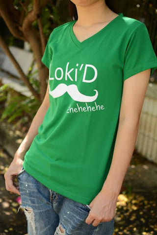 Loki'D white print on t-shirt short sleeve