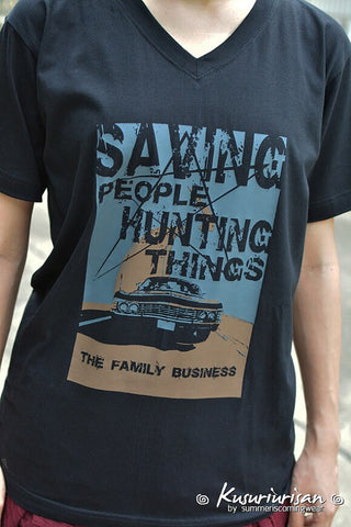 Supernatural saving people hunting things the family business t-shirt short sleeve