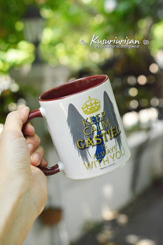 Supernatural keep calm Castiel is always with you-Misha's minions mug-4 color for choose