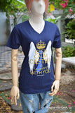Supernatural Keep Calm Castiel is always with you-Misha's minions Ver.2 t-shirt short sleeve