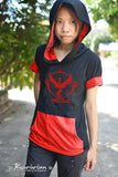 Pokemon Red team VALOR t shirt hoodie short sleeve lightweight hoodie