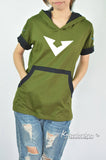 Voltron hoodie V symbols on cotton hoodie short sleeve -can choose color