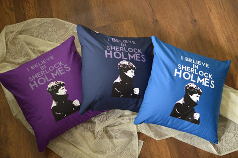 SHERLOCK cushions cover I believe in Sherlock 16x16 inches