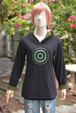 Olive green Target and arrow on black and olive green t-shirt hoodie long sleeve