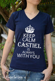 Keep Calm Castiel is always with you-Misha's minions Ver.3 t-shirt short sleeve