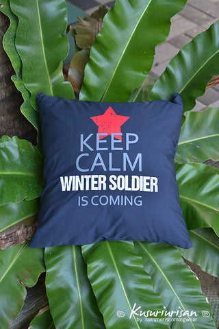 Keep calm winter soldier is coming cushions cover 16x16 inches