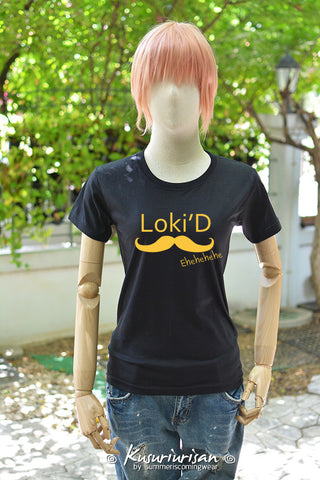 Loki'D mustard print on t-shirt short sleeve