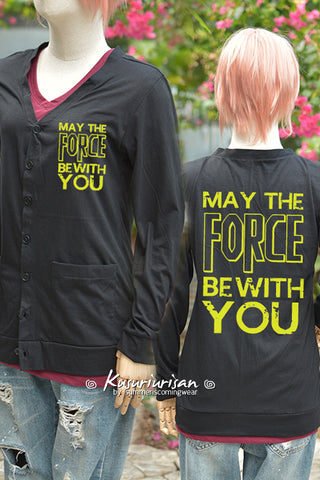 May the force be with you on black Cardigan long sleeve