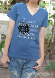 I can't keep calm I'm meeting Jensen Ackles t shirt short sleeve