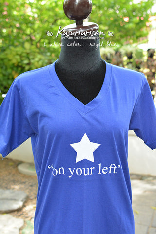 Captain America on your left t-shirt short sleeve