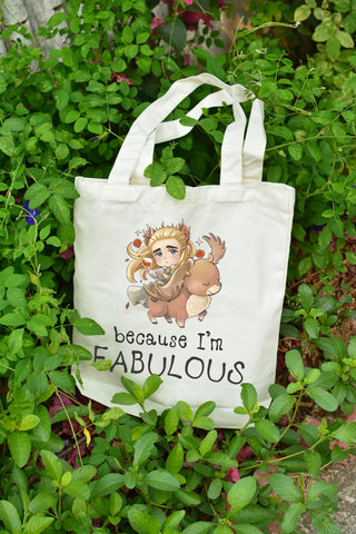 Because I'm FABULOUS Chibi Thrandy on tote bag illustrat: by Kadeart