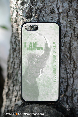 Loki I am burdened with glorious purpose phone cases