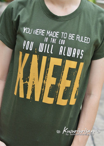 Loki you were made to be ruled in the end you will always kneel Gold ver. t-shirt