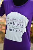Sherlock caring is not an adventage T-shirt