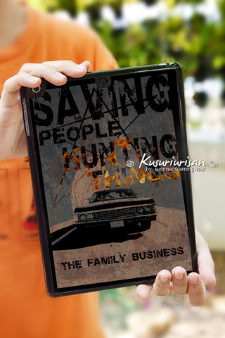 Supernatural saving people hunting things the family business hard plastic iPad tablet case