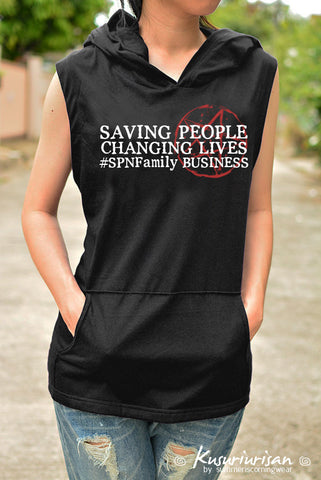 Saving people Changing lives #SPNFamily Business t-shirt hoodie sleeveless