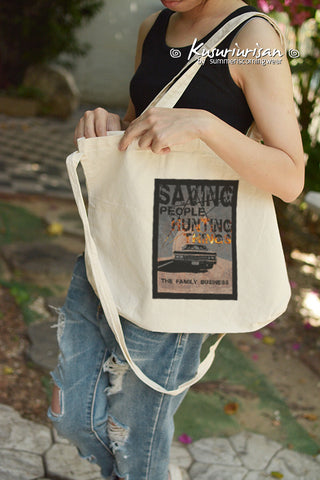 Supernatural Saving People Hunting Things Tote Bag with Shoulder strap
