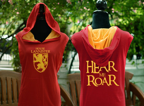 House Lannister here me RoaR red t-shirt hoodie sleeveless