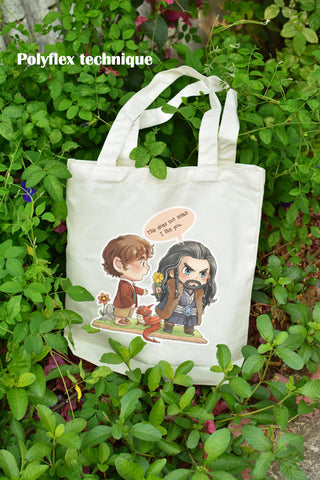 Chibi Thilbo on tote bag this does not mean I like you illustrat: by Kadeart