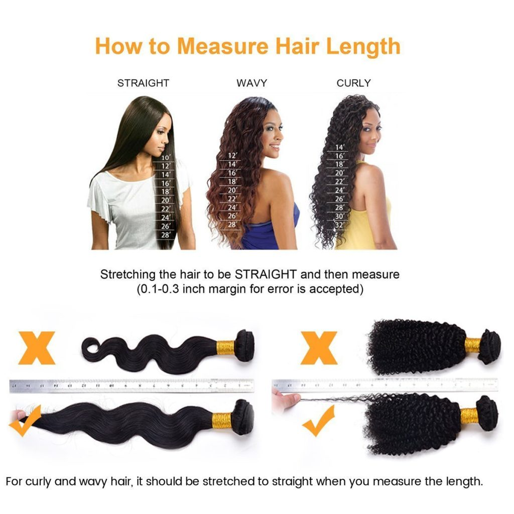 How to measure hair length of hair extensions and wigs
