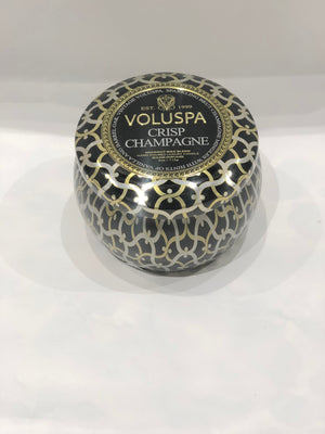 Voluspa Dec Tin Candle 25tim Chrisp Champagne