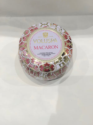 Voluspa Dec Tin Candle 25tim Macaron