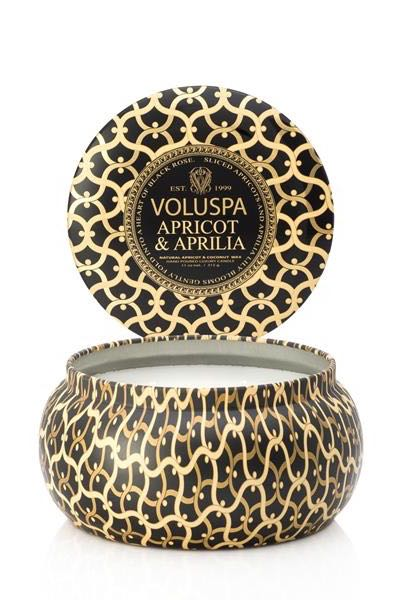 Voluspa 2-Wick in Tin 50tim Apricot Aprilla
