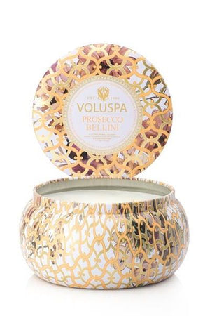 Voluspa 2-Wick in Tin 50tim Prosecco Bellini