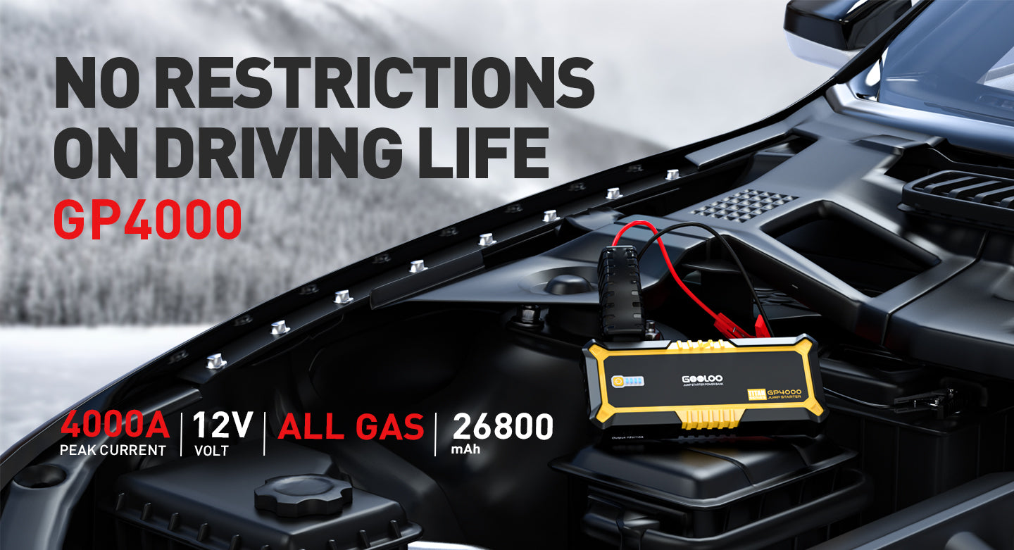 no restrictions on driving life GP4000 GOOLOO jump starter All gas 26800mAh