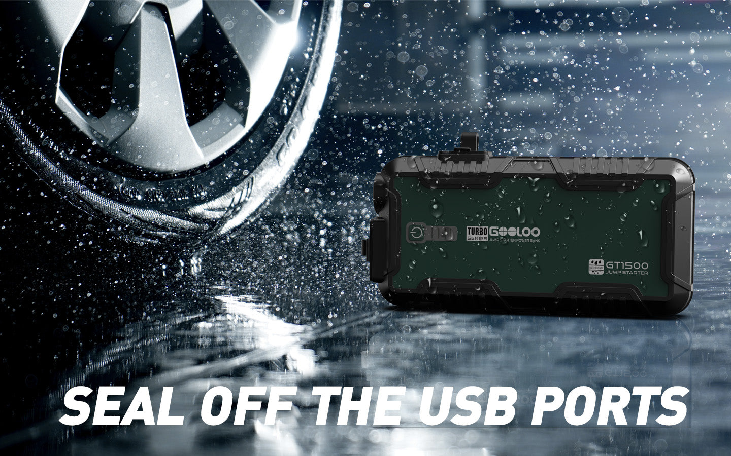 seal off the USB ports waterproof