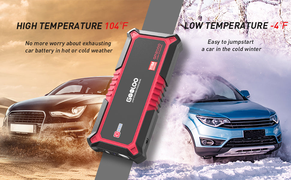 high temperature protected low temperature  easy to jump start a car in winter car battery