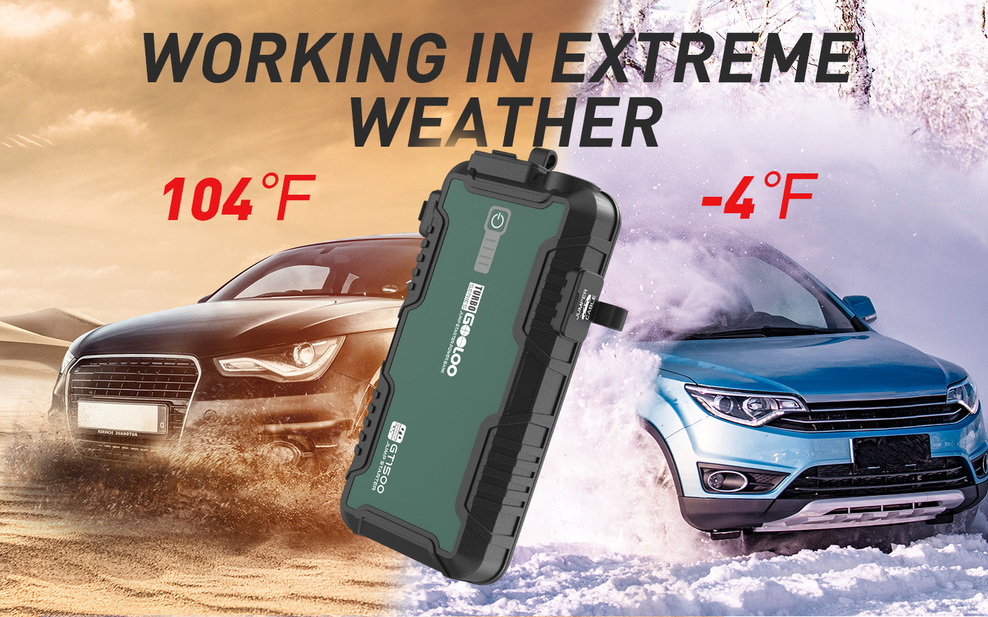 easy to jump start a car in winter work in extreme weather