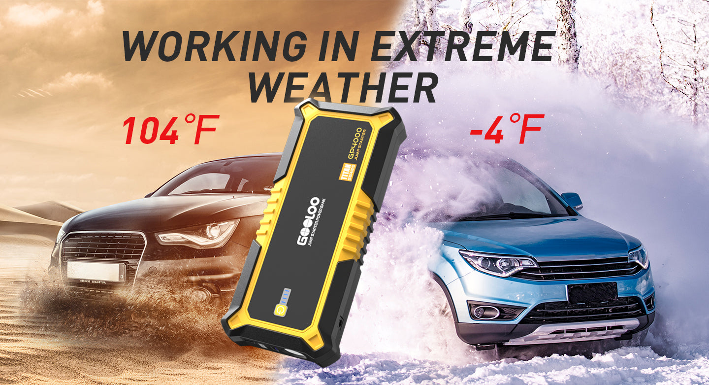 working in extreme weather Car booster easy to jump start a car in winter