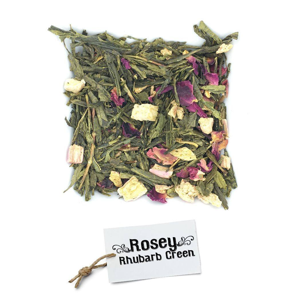 BRUU - The Gourmet Subscription Tea Club - Rosey Rhubarb Green -