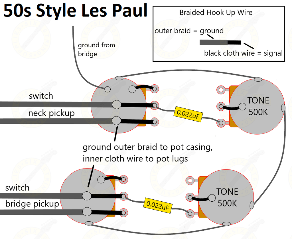how to wire a Les Paul