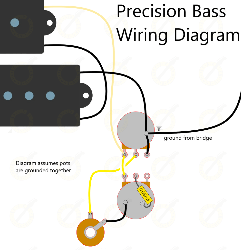 wiring for fender precision bass
