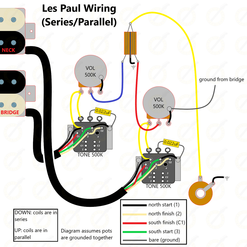 series parallel wiring diagram for les paul