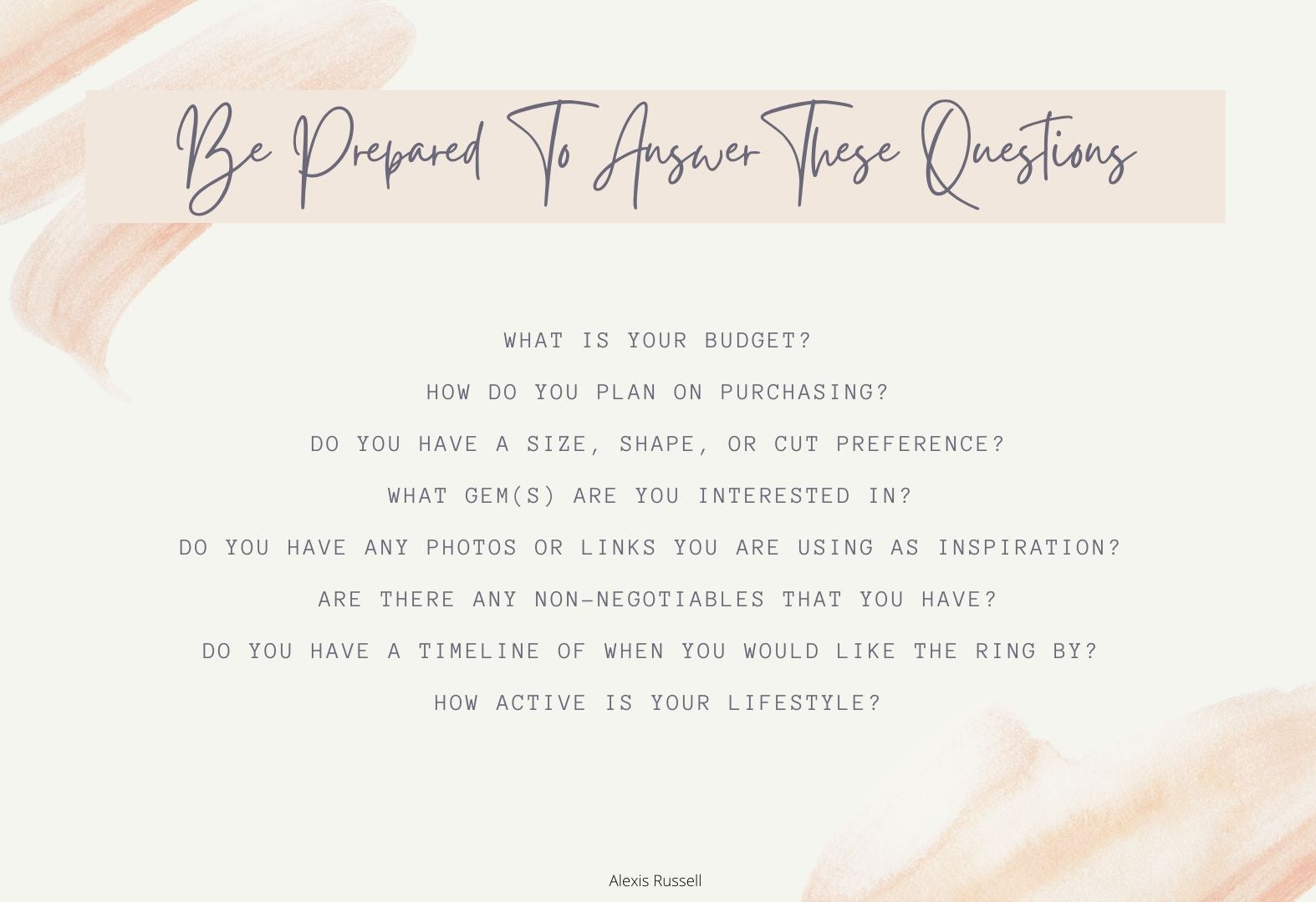 Review these questions to get the most out of your AR consultation