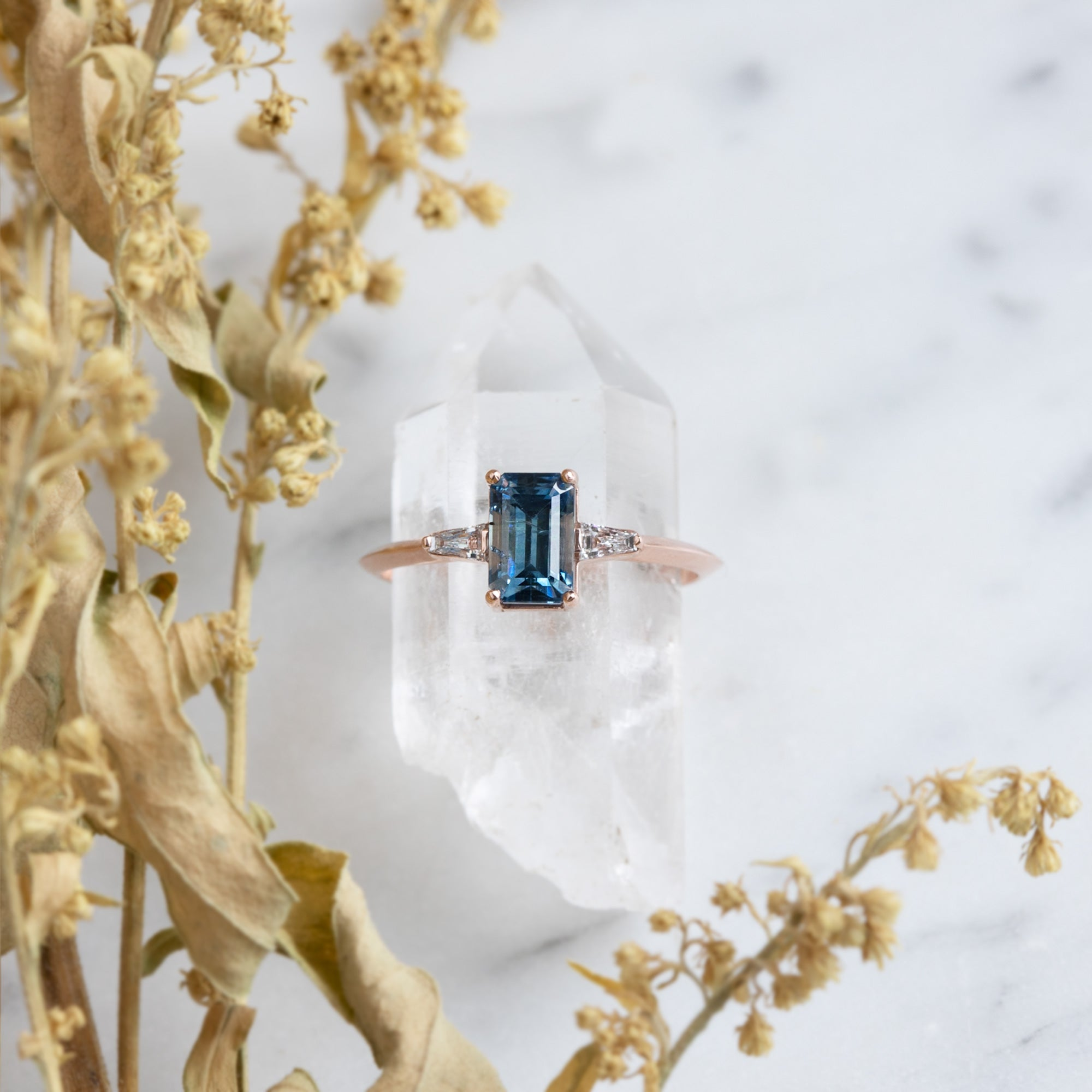 One Of A Kind Sapphire Ash Ring