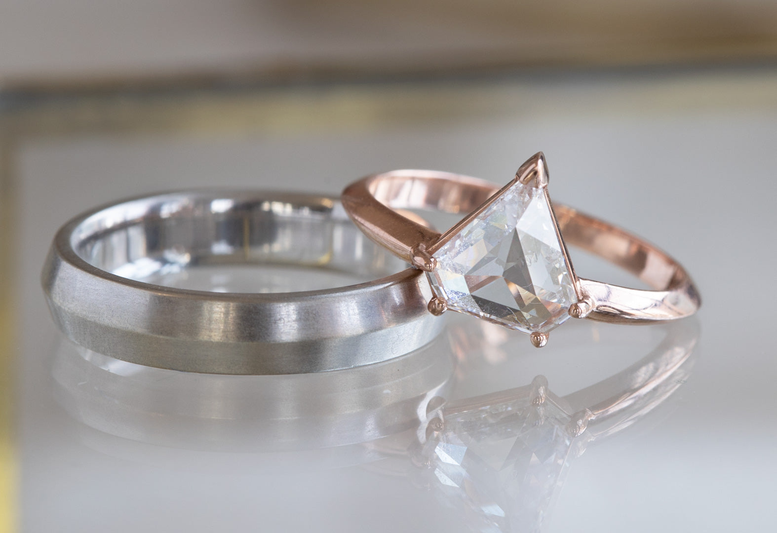 Engagement Ring Set - For him and her