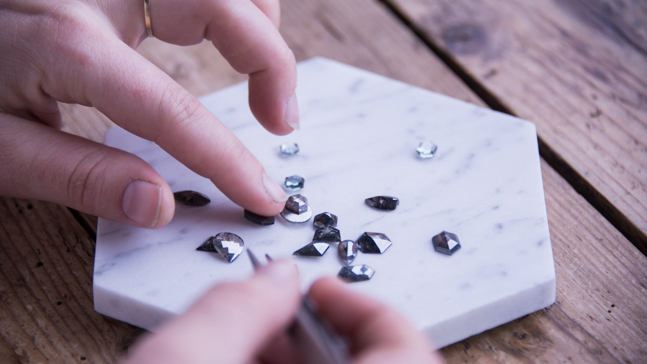 sourcing salt and pepper diamonds
