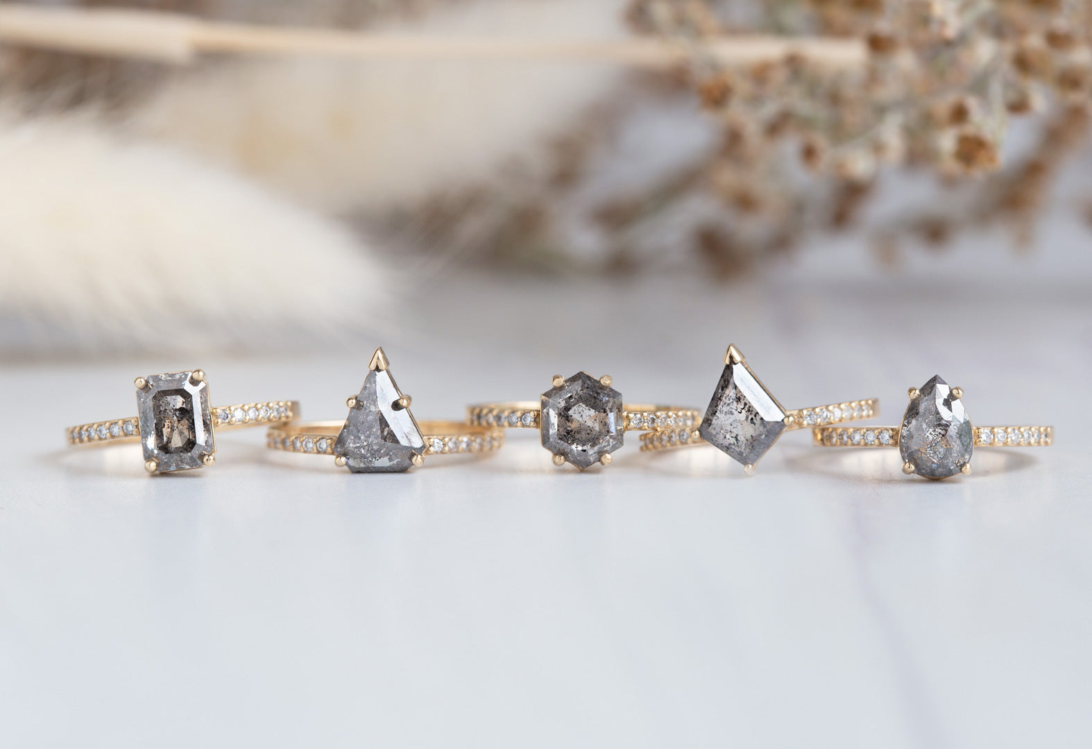 one of a kind engagement rings designed by Alexis Russell
