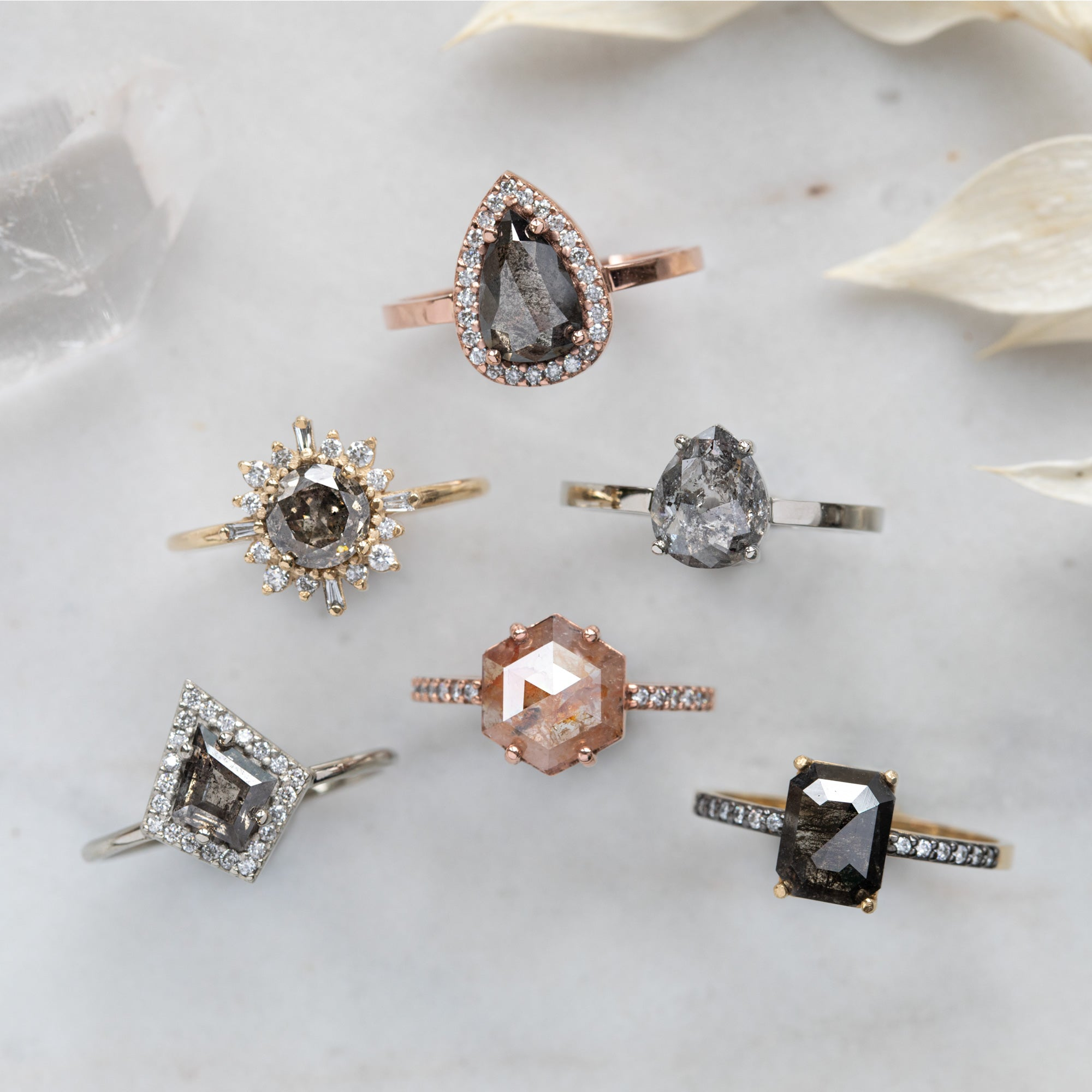 In Stock Engagement Rings Showing You All Available Metal Options