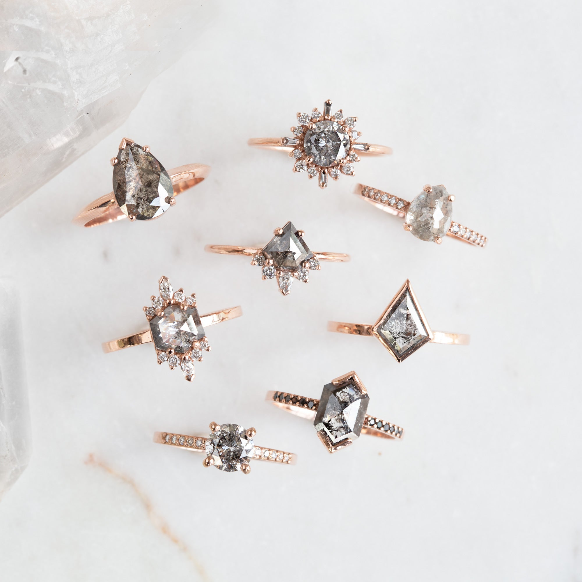 Examples Of Different Settings We Offer In Our Custom Engagement Rings