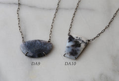 Custom Natural Dendritic Agate Necklace